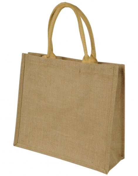 Jute Shopping Bag with Short Straps