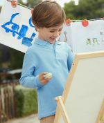 Polo T-Shirt for kids, Long Sleeve Fruit of the Loom