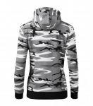 Hooded Women Camouflage Sweater, Malfini Como Zipper