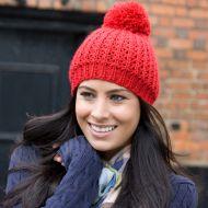 Hat, Result - Knitted Flute Pom Pom