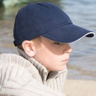 Result - Junior Low Profile Heavy Brushed Cotton Cap