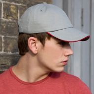 Result - Low Profile Heavy Brushed Cotton Cap With Sandwich Peak